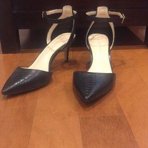 Black Snakeskin Heels
